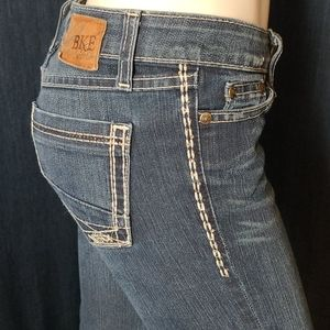 Buckle Bke Sabrina Straight Leg Bedazzled Jeans 25